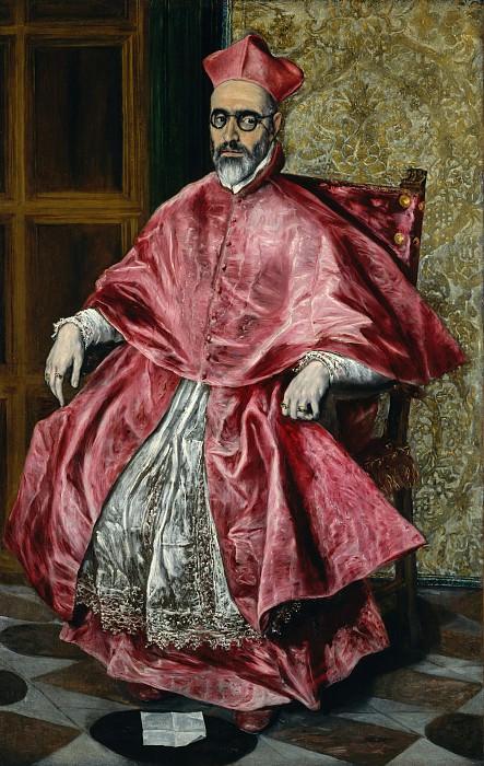Эль Греко (Греция. Кандия 1540/41-1614 Толедо) - Портрет кардинала, наверное кардинал дон Фернандо Ниньо де Гевара (1541-1609). Музей Метрополитен: часть 4 (Ираклион)