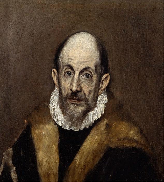 El Greco (Greek, Candia 1540/41–1614 Toledo) - Portrait of a Man. Metropolitan Museum: part 4 (Iráklion)