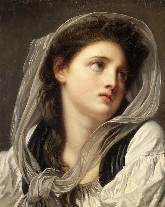 Jean Baptiste Greuze - Head of a Young Woman (Contemplation). Metropolitan Museum: part 4