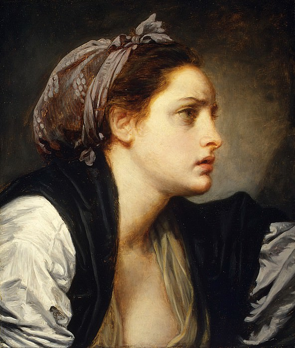 Jean Baptiste Greuze - Study Head of a Woman. Metropolitan Museum: part 4
