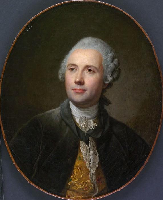 Jean Baptiste Greuze - The Sculptor Jean Jacques Caffiéri (1725–1792). Metropolitan Museum: part 4