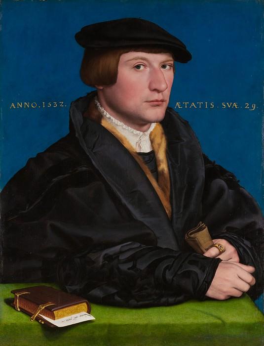 Ганс Гольбейн Младший - Портрет членов семьи Ведига, наверное Герман Ведиг (ум. 1560). Музей Метрополитен: часть 4