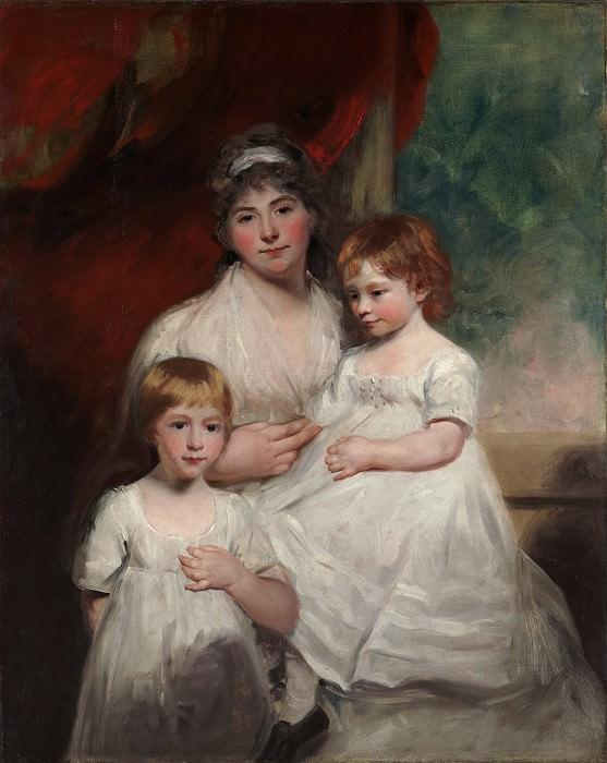 Джон Хоппнер - Миссис Джон Гарден (Энн Гарден, 1769-1842) и её дети, Джон (1796-1854) и Энн Маргарет (р. 1793). Музей Метрополитен: часть 4