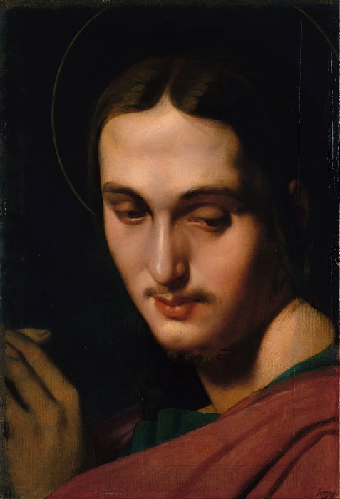 Head of Saint John the Evangelist. Jean Auguste Dominique Ingres