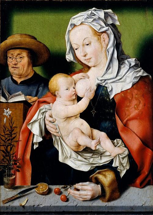 Workshop of Joos van Cleve - The Holy Family. Metropolitan Museum: part 4