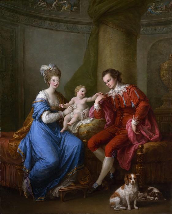 Кауфман, Ангелика - Эдвард Смит Стэнли (1752-1834), двенадцатый граф Дерби, со своей первой женой (леди Элизабет Хемильтон, 1753-1797) и сыном (Эдвард Смит Стэнли, 1775-1851). Музей Метрополитен: часть 4