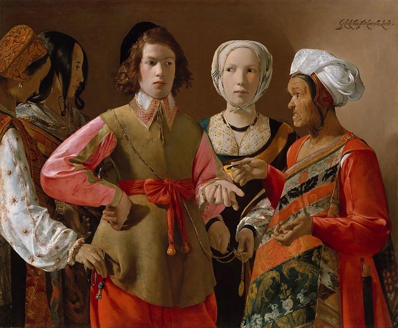 Georges de La Tour - The Fortune Teller. Metropolitan Museum: part 4