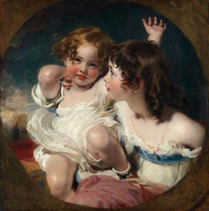 Сэр Томас Лоуренс - Дети Калмади (Эмили, 1818 - ?1906 года, и Лаура Энн, 1820-1894). Музей Метрополитен: часть 4