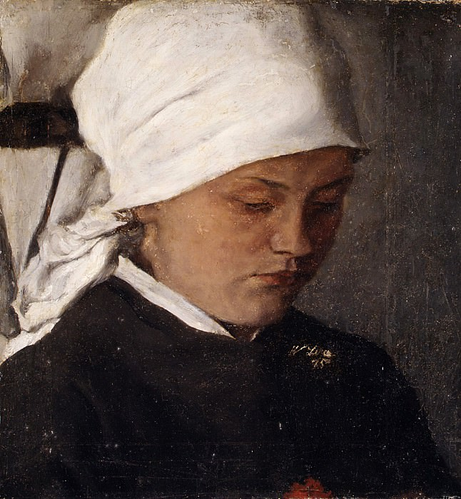 Wilhelm Leibl - Peasant Girl with a White Headcloth. Metropolitan Museum: part 4
