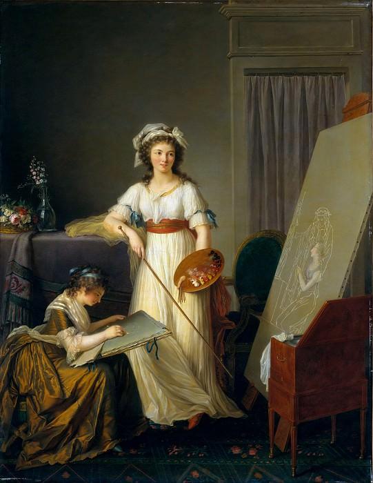 Marie Victoire Lemoine - Atelier of a Painter, Probably Madame Vigée Le Brun (1755–1842), and Her Pupil. Metropolitan Museum: part 4