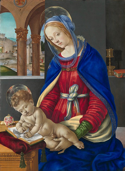 Filippino Lippi - Madonna and Child. Metropolitan Museum: part 4