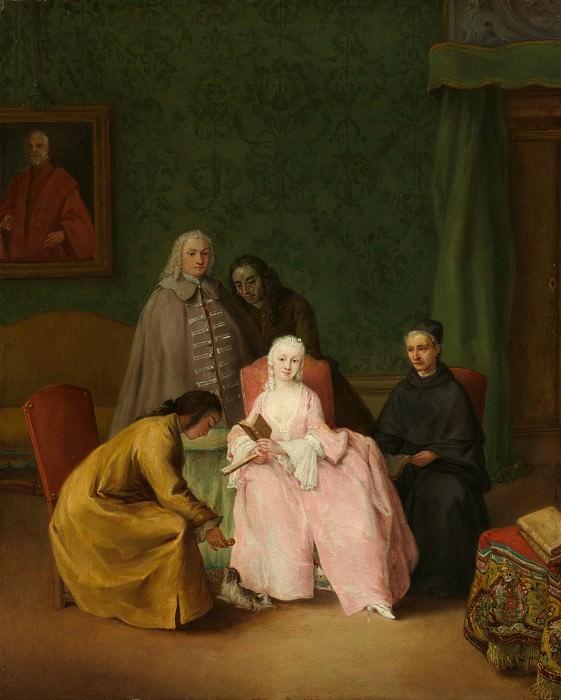Pietro Longhi (Italian, Venice 1701–1785 Venice) - The Visit. Metropolitan Museum: part 4