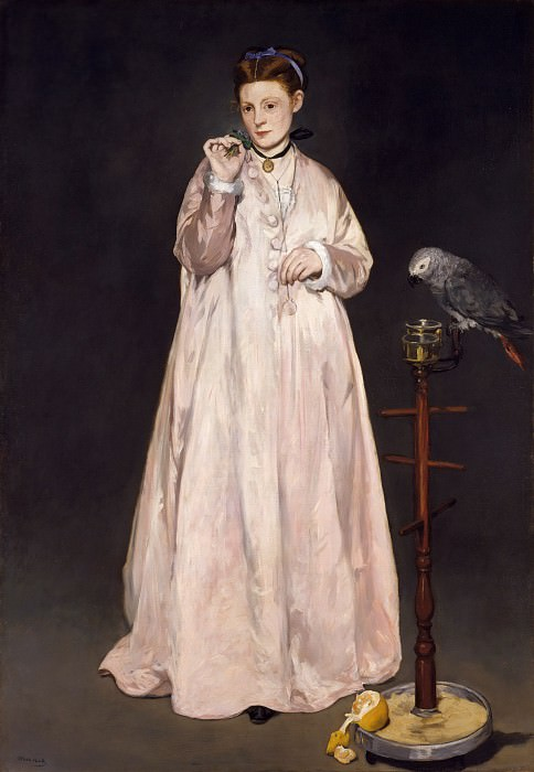 Édouard Manet - Young Lady in 1866. Metropolitan Museum: part 4
