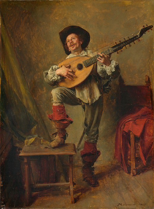 Ernest Meissonier - Soldier Playing the Theorbo. Metropolitan Museum: part 4