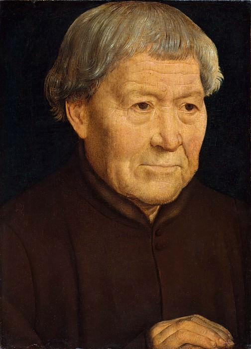 Hans Memling - Portrait of an Old Man. Metropolitan Museum: part 4