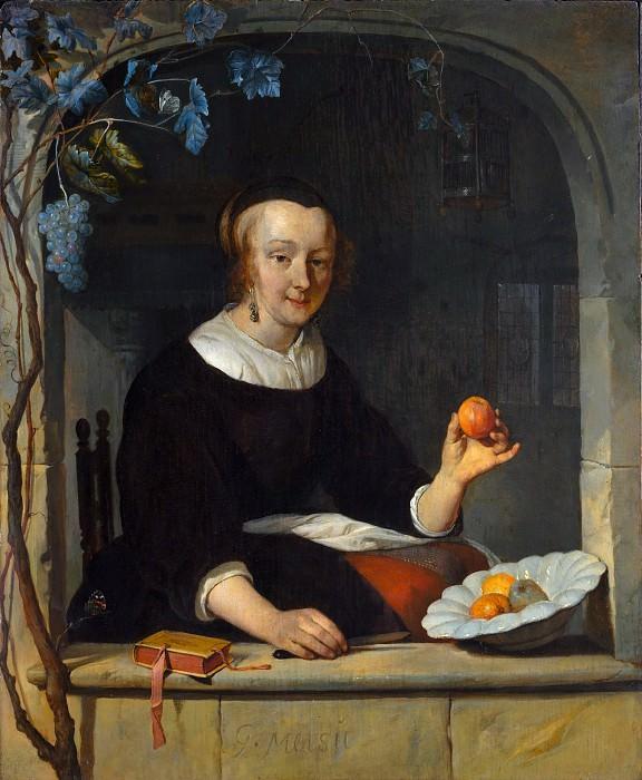 Gabriël Metsu - A Woman Seated at a Window. Metropolitan Museum: part 4