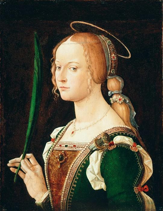 Bartolomeo Montagna (Italian, Vicentine, before 1459–1523) - Saint Justina of Padua. Metropolitan Museum: part 4