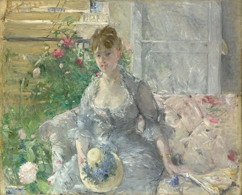 Berthe Morisot - Young Woman Seated on a Sofa. Metropolitan Museum: part 4