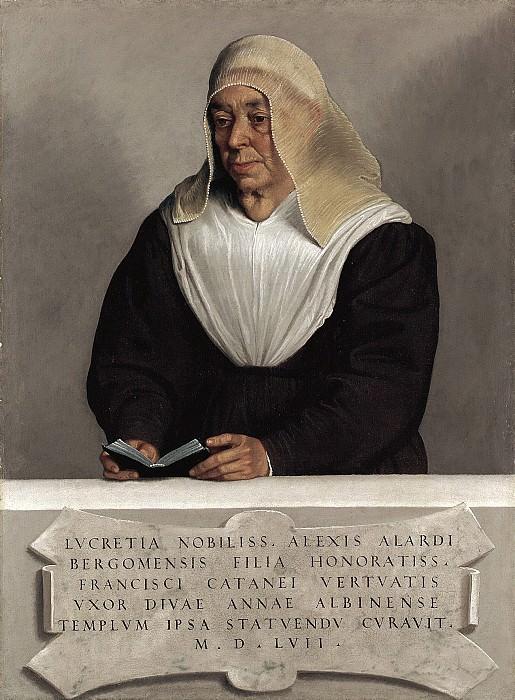 Giovanni Battista Moroni - Abbess Lucrezia Agliardi Vertova (1490?–1558). Metropolitan Museum: part 4
