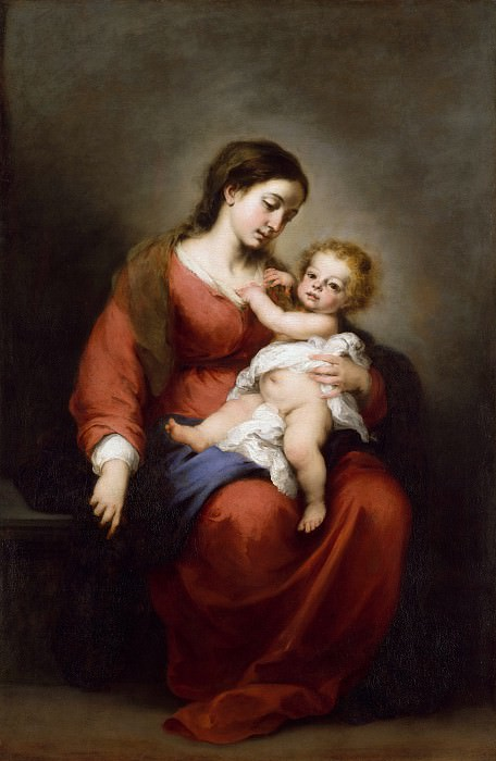 Bartolomé Esteban Murillo - Virgin and Child. Metropolitan Museum: part 4