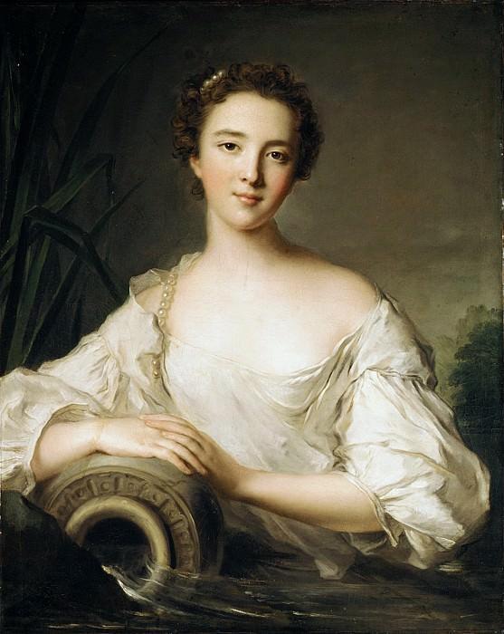 Jean Marc Nattier - Louise Henriette de Bourbon-Conti (1726–1759), Later Duchesse d'Orléans. Metropolitan Museum: part 4