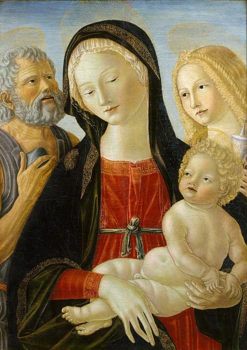 Нероччо де Ланди (Италия, Сиена 1447-1500) - Мадонна с Младенцем и святыми Иеронимом и Марией Магдалиной. Музей Метрополитен: часть 4