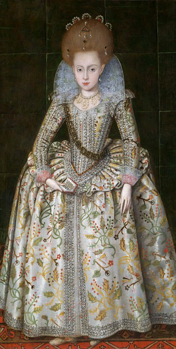 Robert Peake the Elder - Princess Elizabeth (1596–1662), Later Queen of Bohemia. Metropolitan Museum: part 4