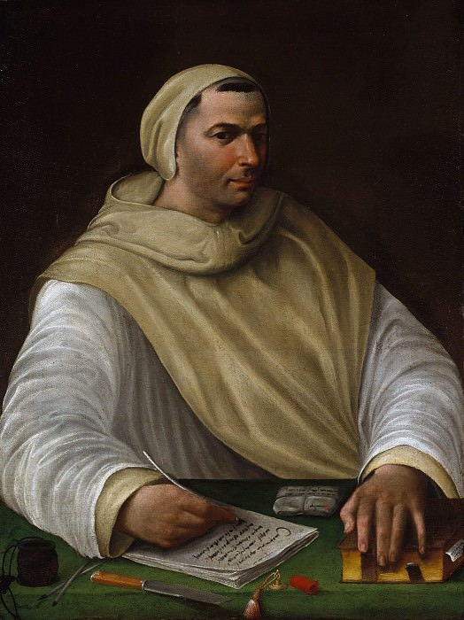 Attributed to Battista Franco - Portrait of an Olivetan Monk. Metropolitan Museum: part 4