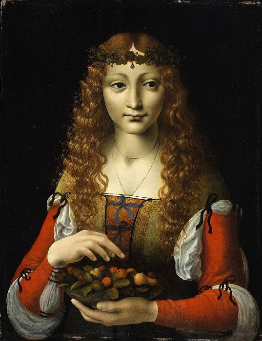 Attributed to Giovanni Ambrogio de Predis - Girl with Cherries. Metropolitan Museum: part 4