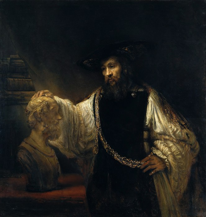 Rembrandt (Dutch, Leiden 1606–1669 Amsterdam) - Aristotle with a Bust of Homer. Metropolitan Museum: part 4