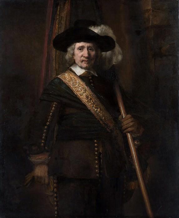 Рембрандт (Голландия, Лейден 1606-1669 Амстердам) - Знаменосец (Флорис Суп, 1604-1657). Музей Метрополитен: часть 4