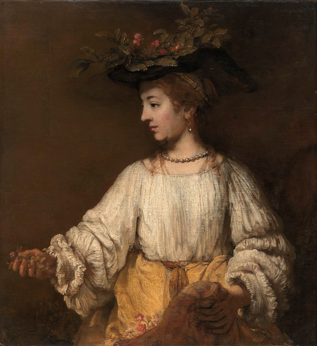 Portrait of Hendrickje Stofells as Flora. Rembrandt Harmenszoon Van Rijn
