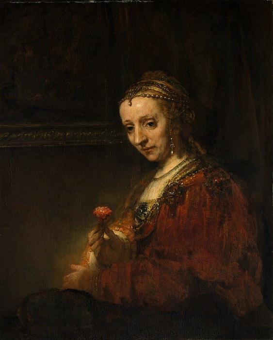 Rembrandt (Dutch, Leiden 1606–1669 Amsterdam) - Woman with a Pink. Metropolitan Museum: part 4
