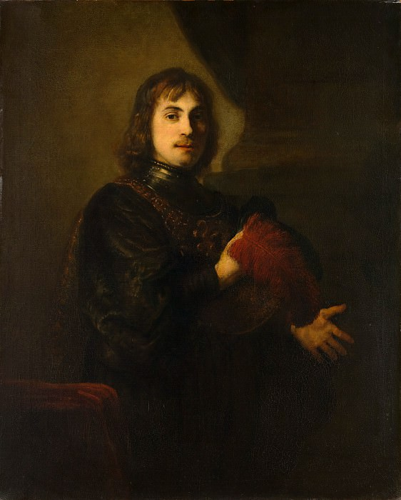 Style of Rembrandt - Portrait of a Man with a Breastplate and Plumed Hat. Metropolitan Museum: part 4