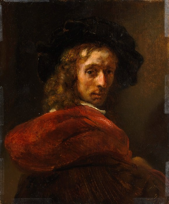 Style of Rembrandt - Man in a Red Cloak. Metropolitan Museum: part 4