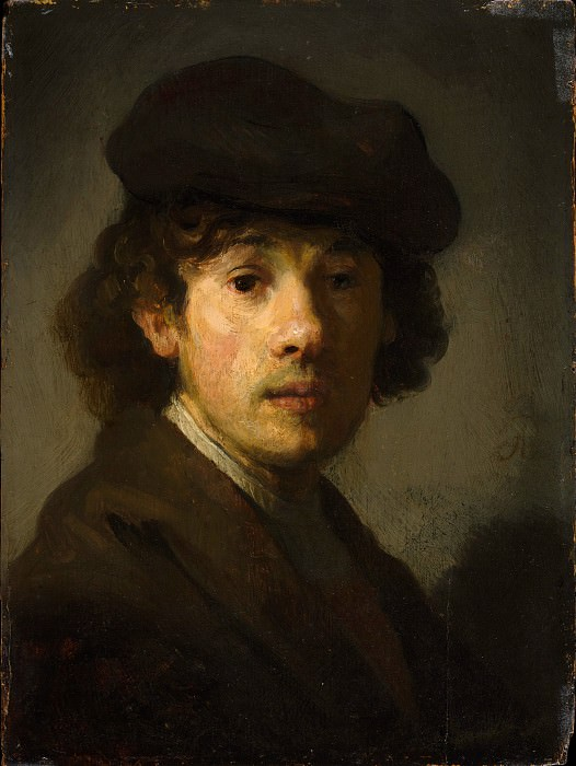 Style of Rembrandt - Rembrandt (1606–1669) as a Young Man. Metropolitan Museum: part 4