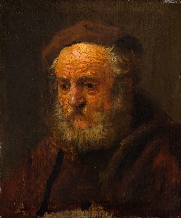 Style of Rembrandt - Study Head of an Old Man. Metropolitan Museum: part 4