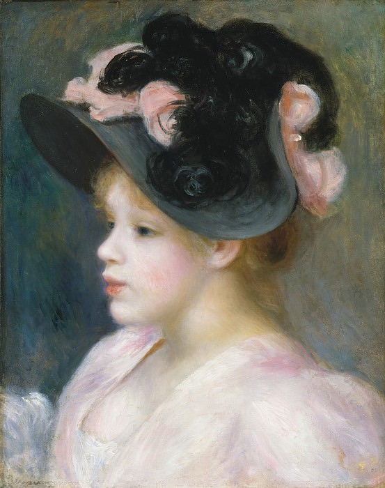 Auguste Renoir - Young Girl in a Pink-and-Black Hat. Metropolitan Museum: part 4
