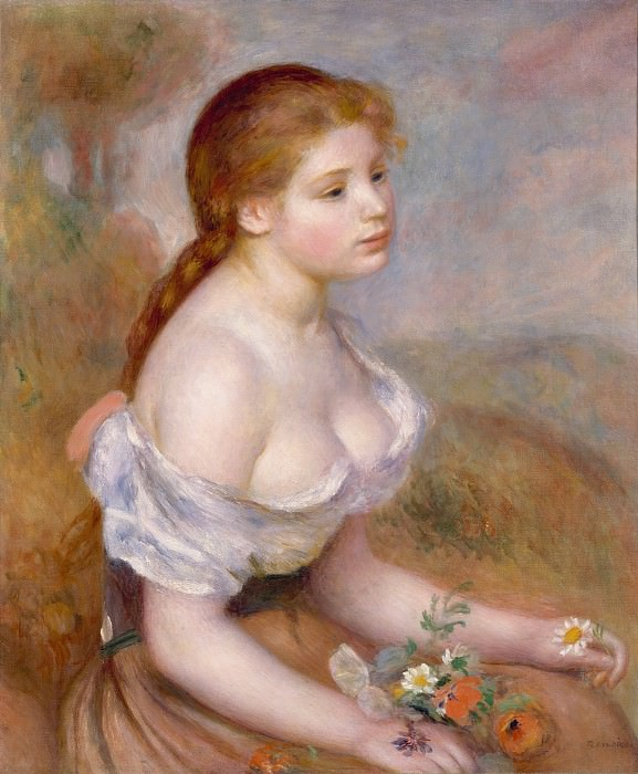 Auguste Renoir - A Young Girl with Daisies. Metropolitan Museum: part 4