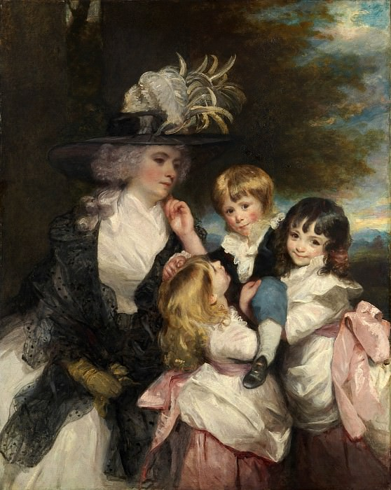 Sir Joshua Reynolds - Lady Smith (Charlotte Delaval) and Her Children (George Henry, Louisa, and Charlotte). Metropolitan Museum: part 4