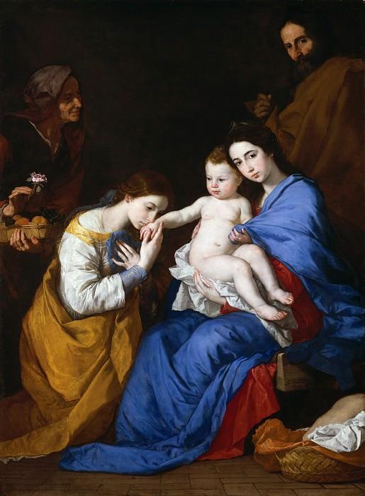 Хусепе де Рибера (Испания, Хатива 1591-1652 Неаполь) - Святое семейство со святыми Анной и Екатериной Александрийской. Музей Метрополитен: часть 4