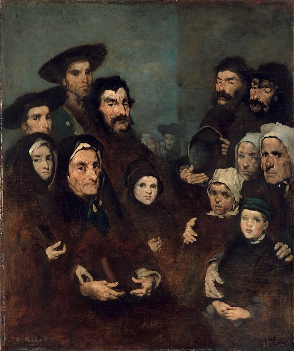 Августин-Теодюль Рибо - Бретонские рыбаки и их семьи. Музей Метрополитен: часть 4