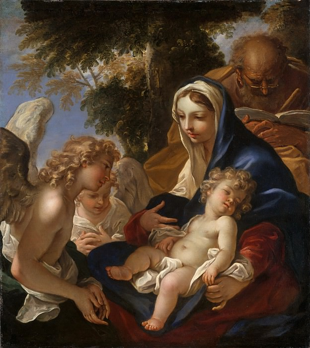 Sebastiano Ricci - The Holy Family with Angels. Metropolitan Museum: part 4