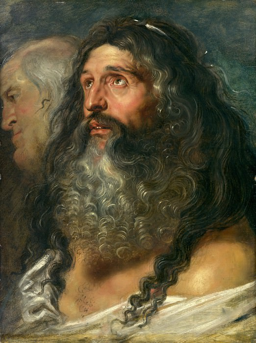 Study of Two Heads. Peter Paul Rubens