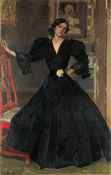 Joaquín Sorolla y Bastida - Señora de Sorolla (Clotilde García del Castillo, 1865–1929) in Black. Metropolitan Museum: part 4