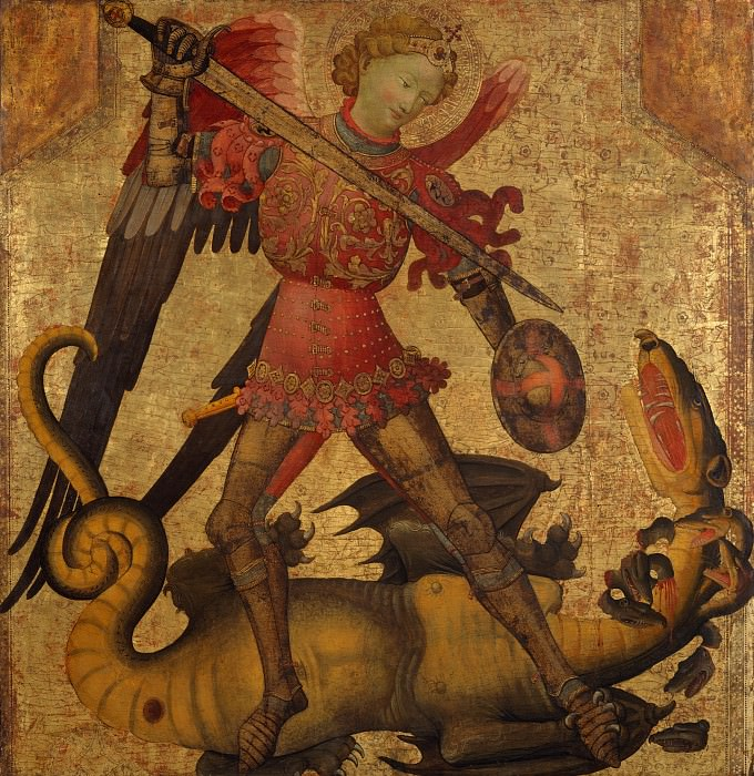 Spanish Painter, first quarter 15th century - Saint Michael and the Dragon. Metropolitan Museum: part 4