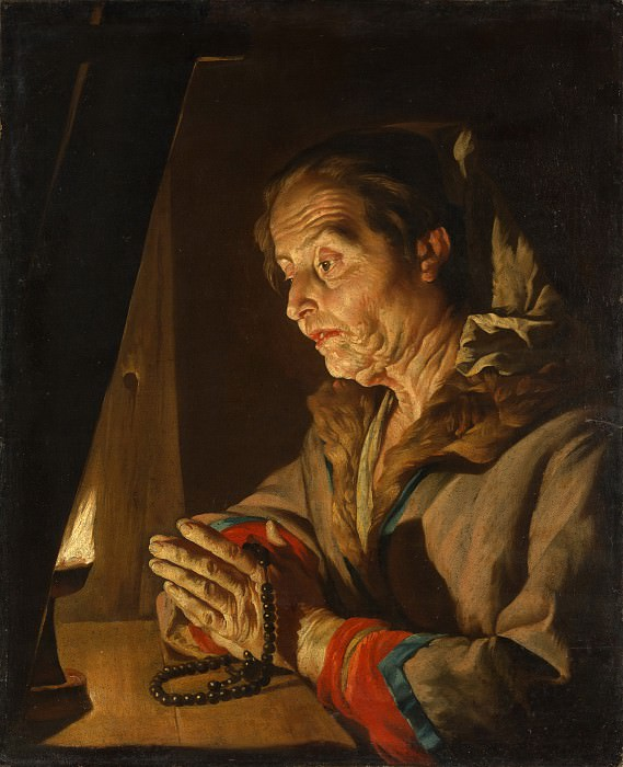Matthias Stom - Old Woman Praying. Metropolitan Museum: part 4