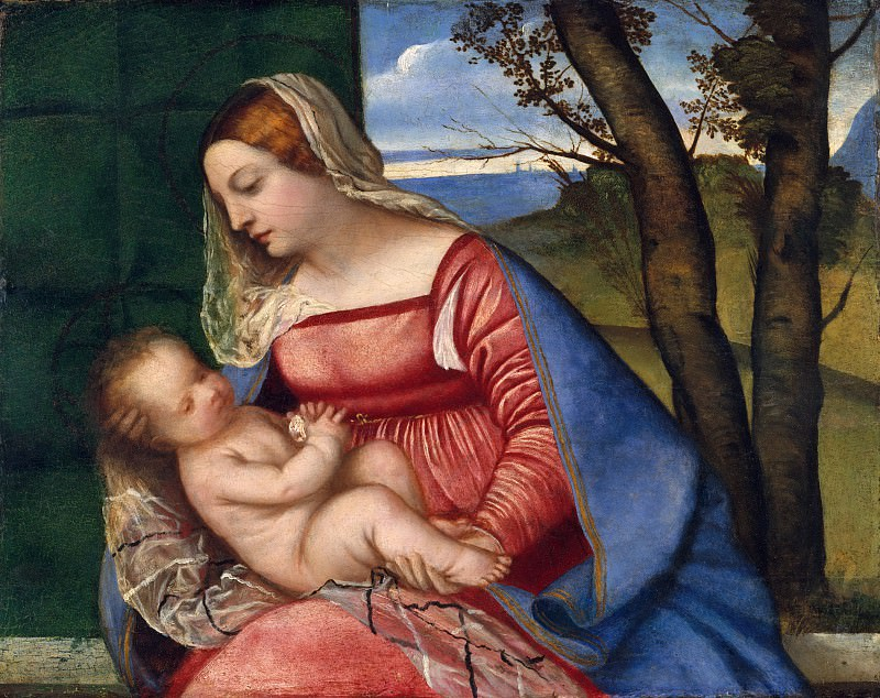 Madonna and Child. Titian (Tiziano Vecellio)