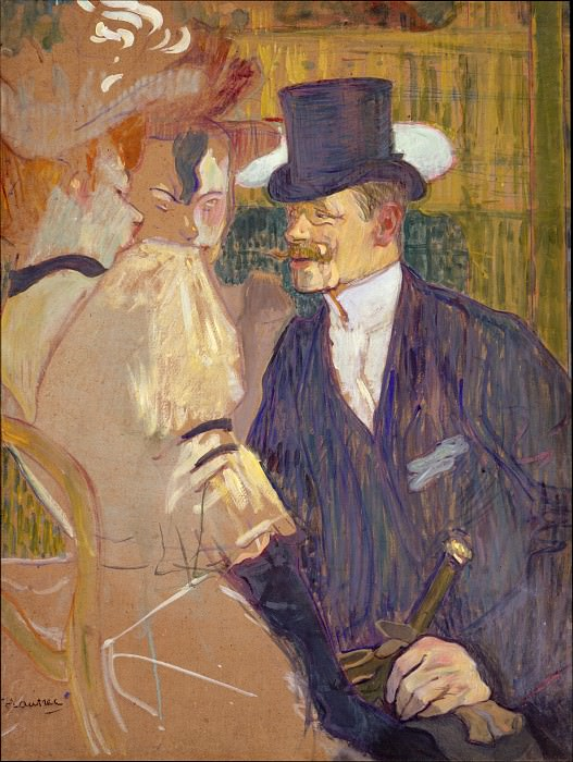 Henri de Toulouse-Lautrec - The Englishman (William Tom Warrener, 1861–1934) at the Moulin Rouge. Metropolitan Museum: part 4