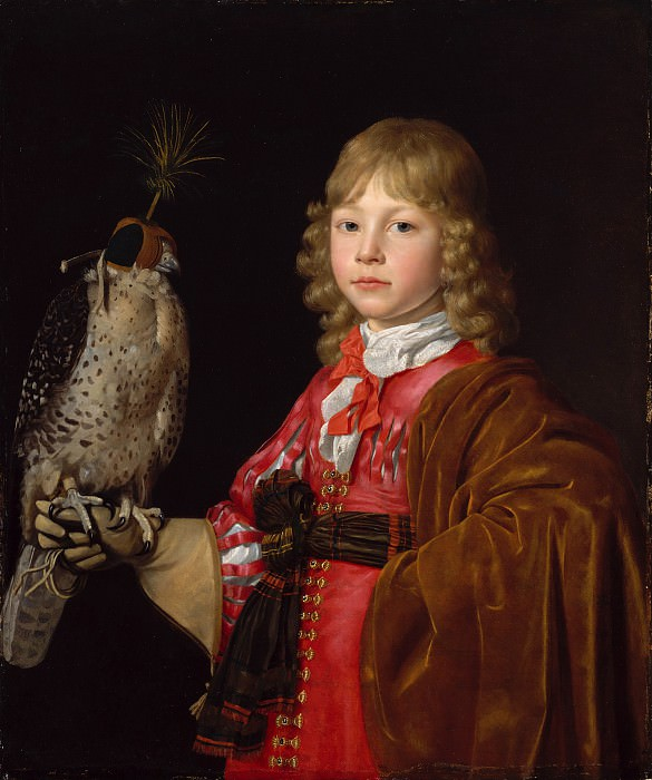 Wallerant Vaillant - Portrait of a Boy with a Falcon. Metropolitan Museum: part 4